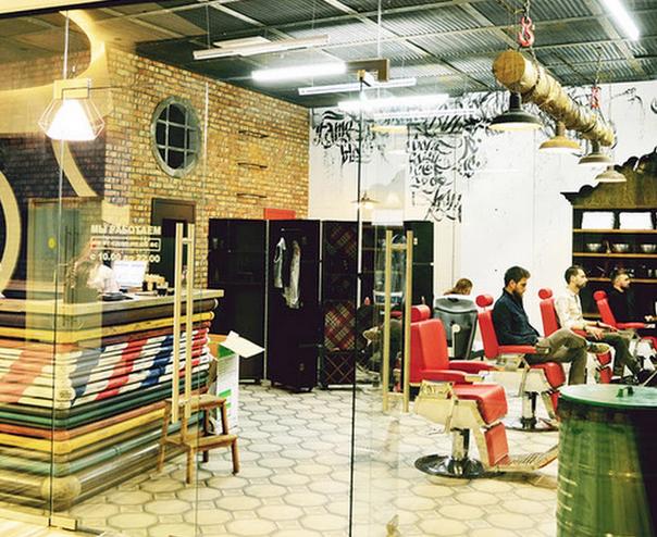 В «Москва-Сити» открылась мужская парикмахерская Black Beard. Изображение № 1.