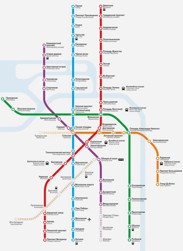 Карты на стол: 11 альтернативных схем петербургского метро. Изображение № 18.