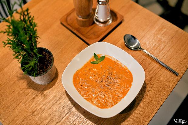 Томатный суп-пюре с пармезаном –140 рублей. Изображение № 30.