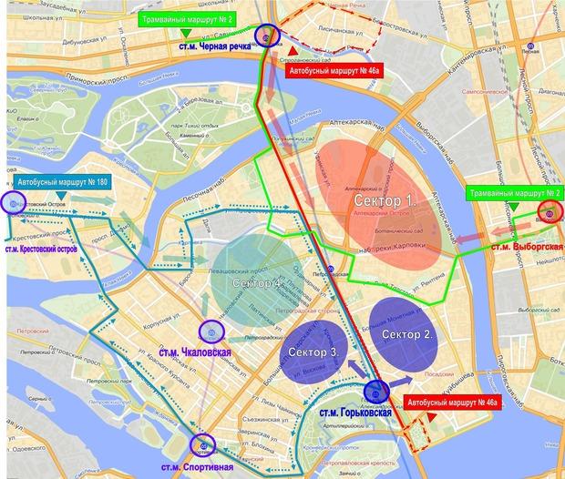 На замену закрытой «Петроградской» ввели три наземных маршрута. Изображение № 1.