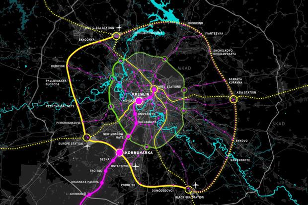 Транспортная система будущей Москвы. Изображение № 1.