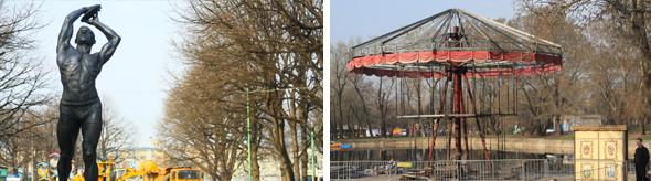 Демонтаж объектов в Парке им. Горького, май 2011 г.