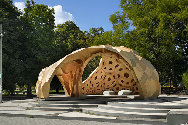Дизайн от природы: Стекло-паутина и павильон — морской еж в Германии. Изображение № 11.