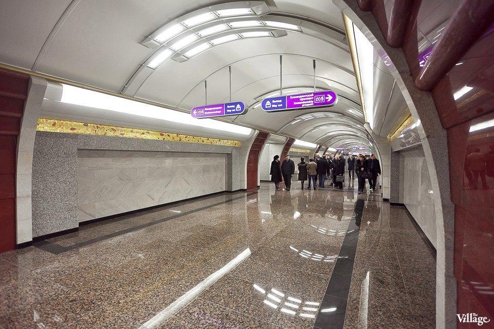 Фоторепортаж: Станции метро «Международная» и«Бухарестская» изнутри. Изображение № 9.