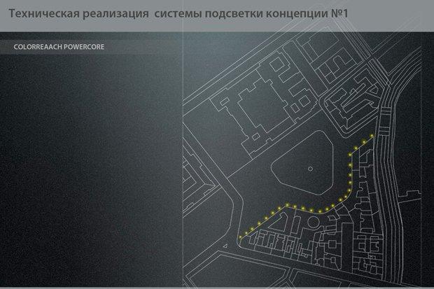 На ночь глядя: 12 проектов подсветки Главного штаба. Изображение № 15.
