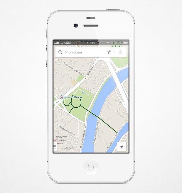 На мобильных картах Google появились велодорожки. Изображение № 9.