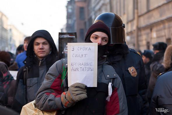 Фоторепортаж: Шествие за честные выборы в Петербурге. Изображение № 19.