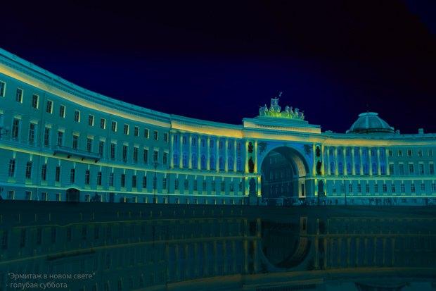На ночь глядя: 12 проектов подсветки Главного штаба. Изображение № 11.