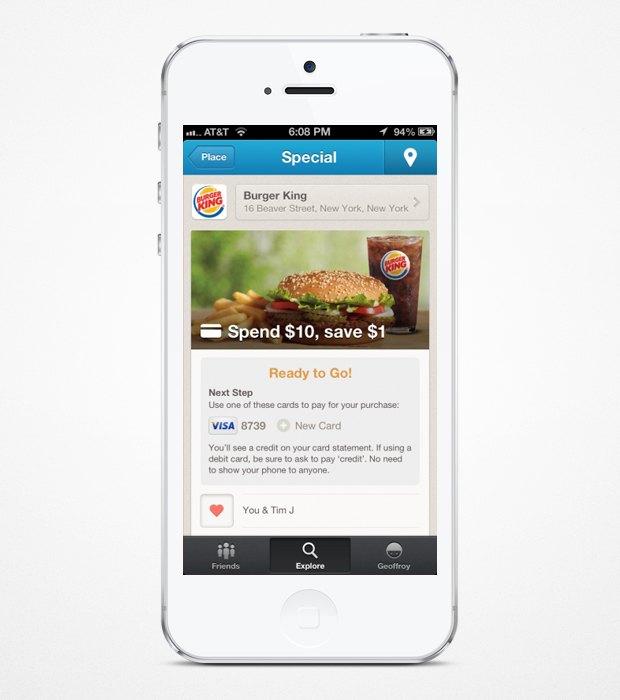 Foursquare будет давать скидки пользователям. Изображение № 1.