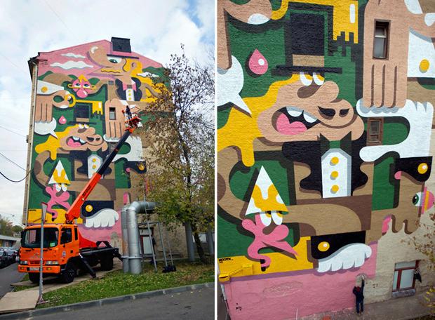 Герб Москвы: Версия граффити-художника Nootk. Изображение № 12.