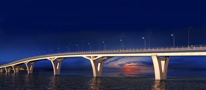 Началось строительство Яхтенного моста наКрестовский остров. Изображение № 5.