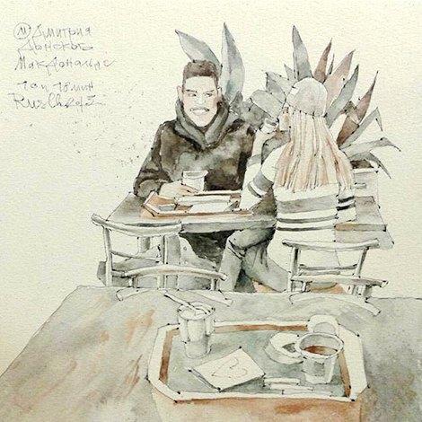 Влюблённые пары на улицах Москвы. Изображение № 13.