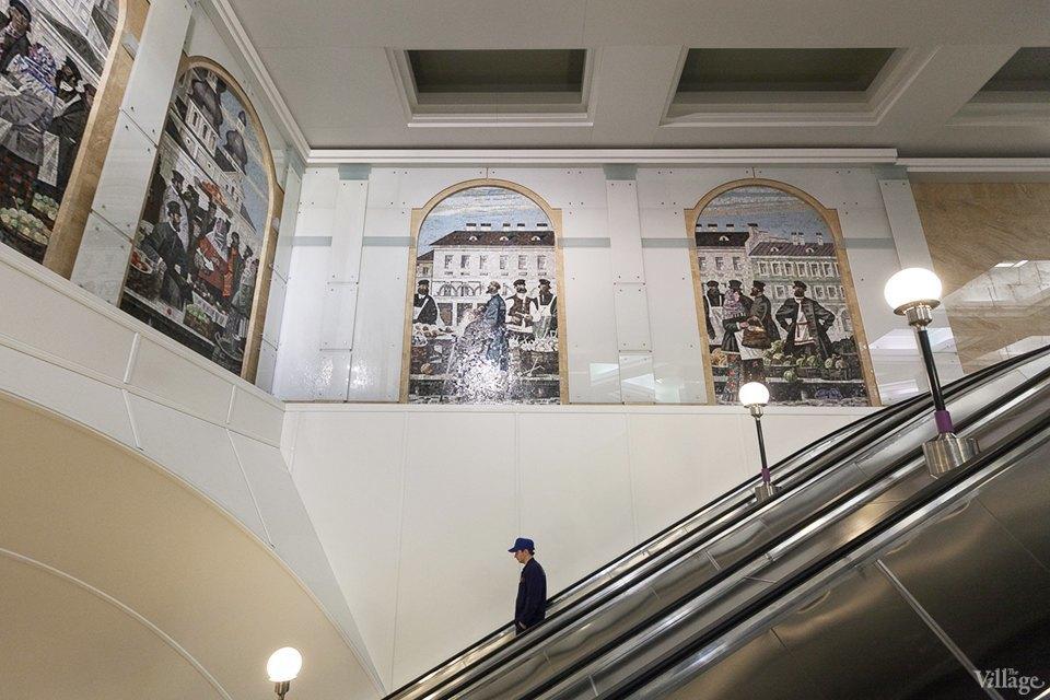 Фоторепортаж: Новый вестибюль «Спасской» изнутри. Изображение № 12.