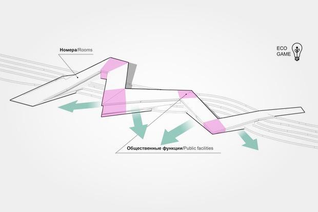 Для Петербурга разработали проекты эко отеля, банка и досугового центра. Изображение № 5.