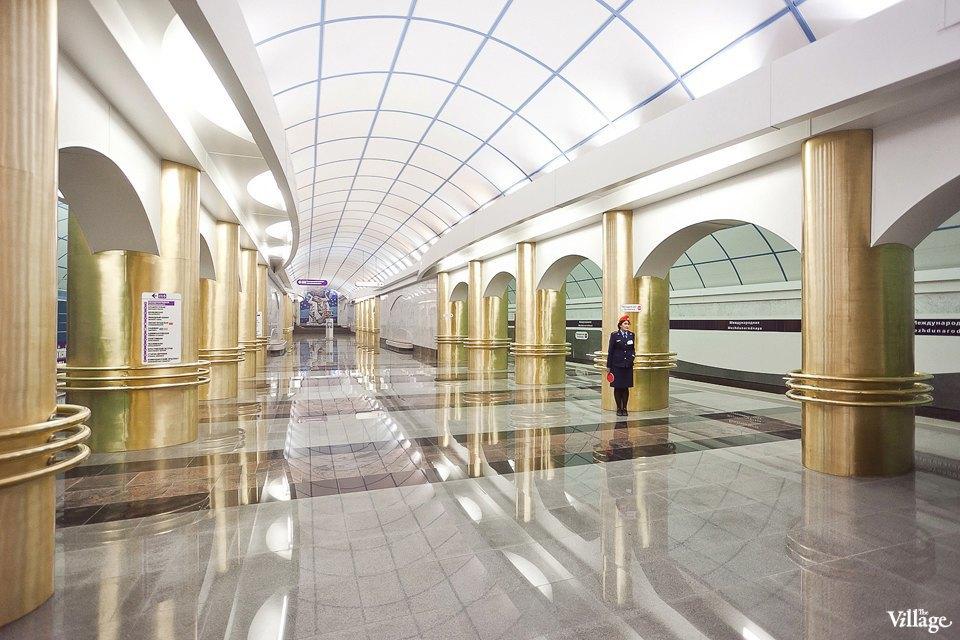 Фоторепортаж: Станции метро «Международная» и«Бухарестская» изнутри. Изображение № 32.