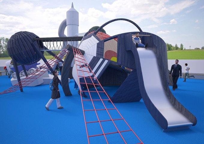 На ВДНХ появится детская площадка смоделями космических кораблей. Изображение № 4.