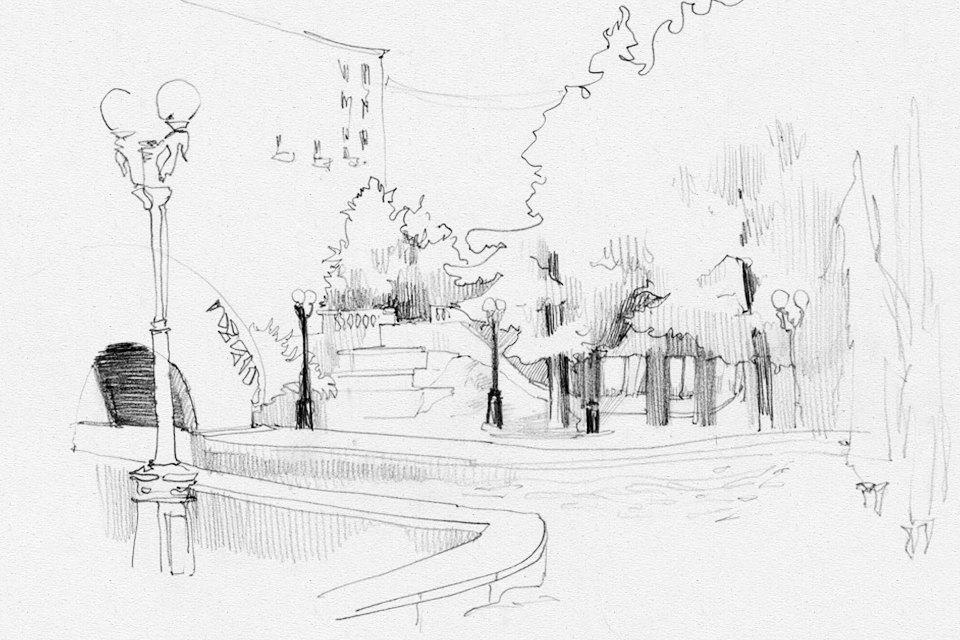 Клуб Рисовальщиков: Украинский бульвар иКиевский вокзал. Изображение № 5.