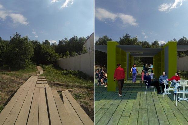 Как могли бы быть организованы зоны вдоль парков. Изображение № 16.