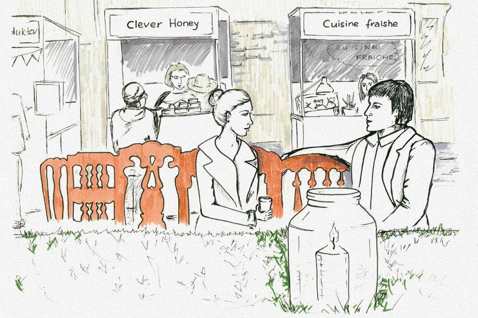 Клуб рисовальщиков: Городской маркет еды на Соколе. Изображение № 6.