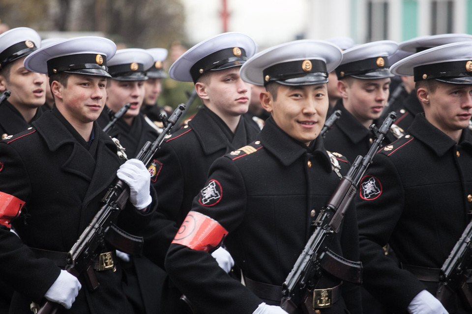 Репетиция парада Победы на Дворцовой площади. Изображение № 5.
