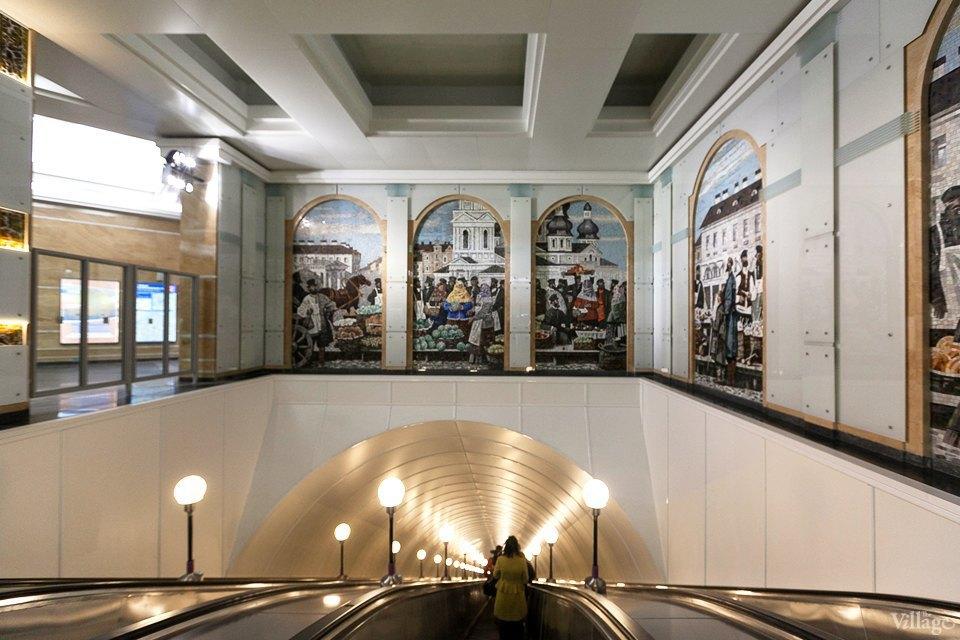 Фоторепортаж: Новый вестибюль «Спасской» изнутри. Изображение № 11.