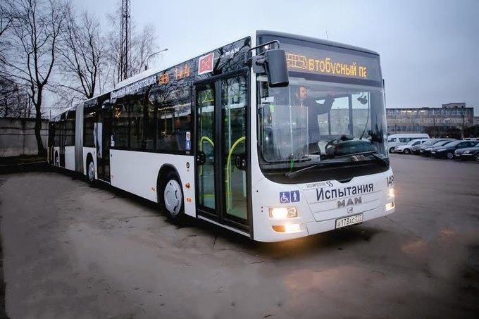 На улицы Петербурга вышел ещё один европейский двухсекционный автобус. Изображение № 1.