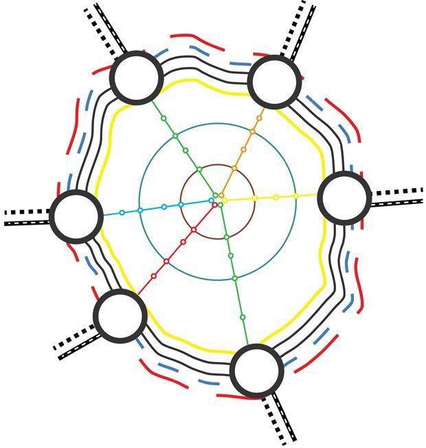 Система трансферных колец, соединяющих Москву, МКАД и область. Предложение Джулио и Роэла.. Изображение № 18.