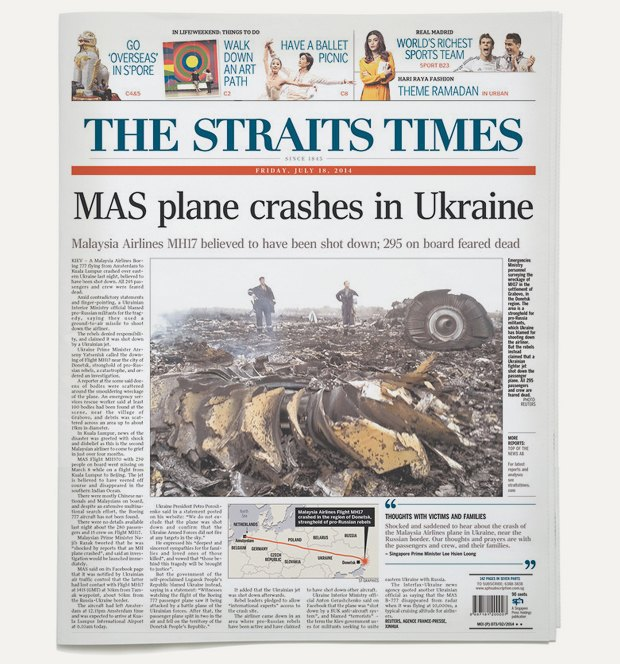 Авиакатастрофа под Донецком на первых полосах газет. Изображение № 14.
