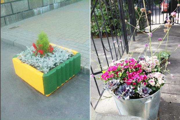 Обычное городское кашпо (слева) и кашпо Анны Андреевой. Изображение № 18.