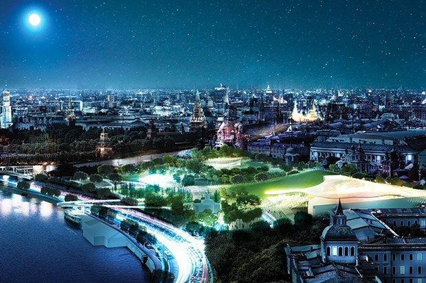 На территории будущего парка «Зарядье» появится интерактивный павильон. Изображение № 4.