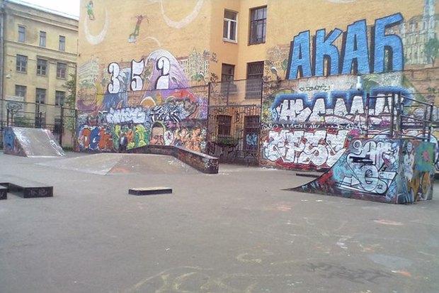 Скейтпарк во дворе Введенской улицы не так давно. Изображение № 2.