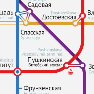 Карты на стол: 11 альтернативных схем петербургского метро. Изображение № 21.