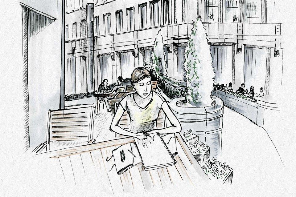 Клуб рисовальщиков: «Белая площадь». Изображение № 6.