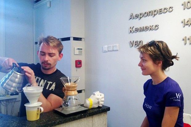 Кооператив «Чёрный» открыл постоянную кофейную лавкув «Циолковском». Изображение № 1.
