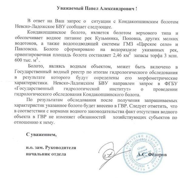 Строительство «Южного» собираются запретить из-за Кондакопшинского болота. Изображение № 1.