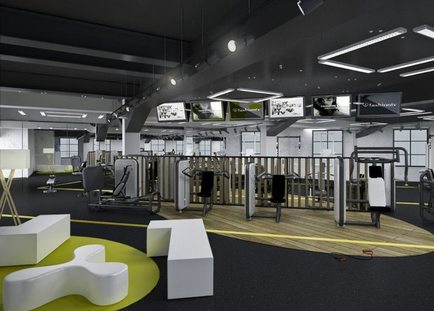 В городе открываются фитнес-клубы с кафе S-11 и интерьером братьев Архипенко. Изображение № 3.