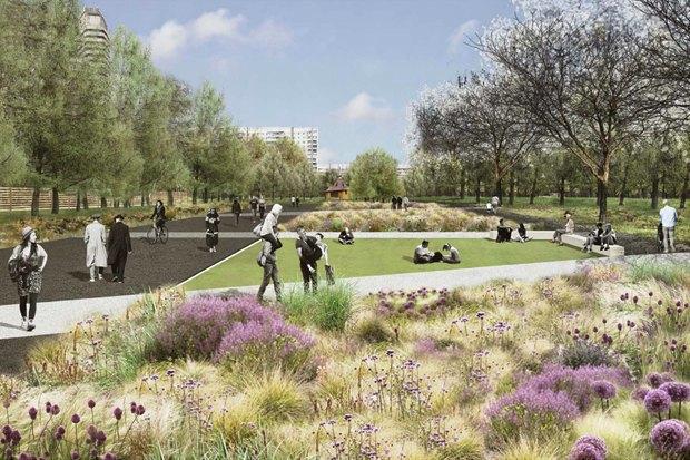 LDA Design представили проекты благоустройства парка «Садовники» и Сиреневого сада. Изображение № 3.