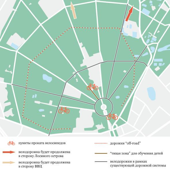 PricewaterhouseCoopers разработал велосипедную концепцию Москвы. Изображение № 2.