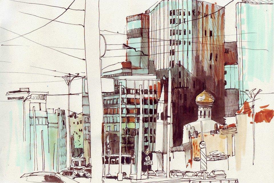 Клуб рисовальщиков: «Белая площадь». Изображение № 10.