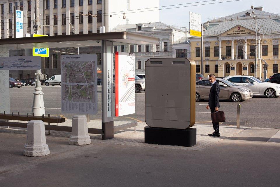 Wi-Fi, USB-порты и автомат попродаже билетов — вМоскве открыли современную остановку транспорта. Изображение № 1.
