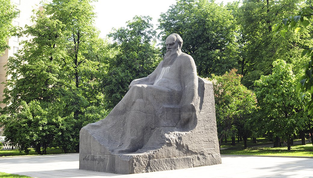 Сквер Девичьего поля, памятник Льву Толстому. Изображение № 92.