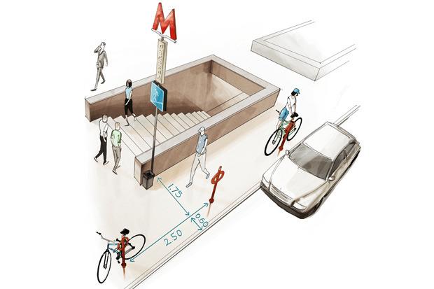 Где разместят 2000 велостоек. Изображение № 4.