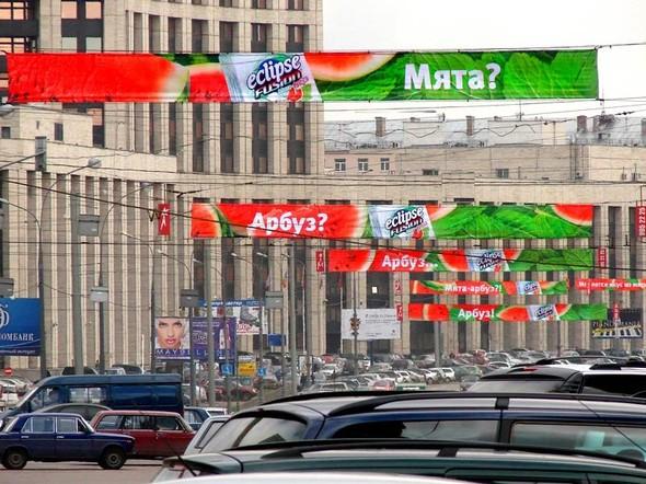 В Москве начался демонтаж рекламных перетяжек. Изображение № 1.