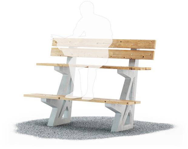 Студия Лебедева придумала многоуровневые скамейки. Изображение № 2.