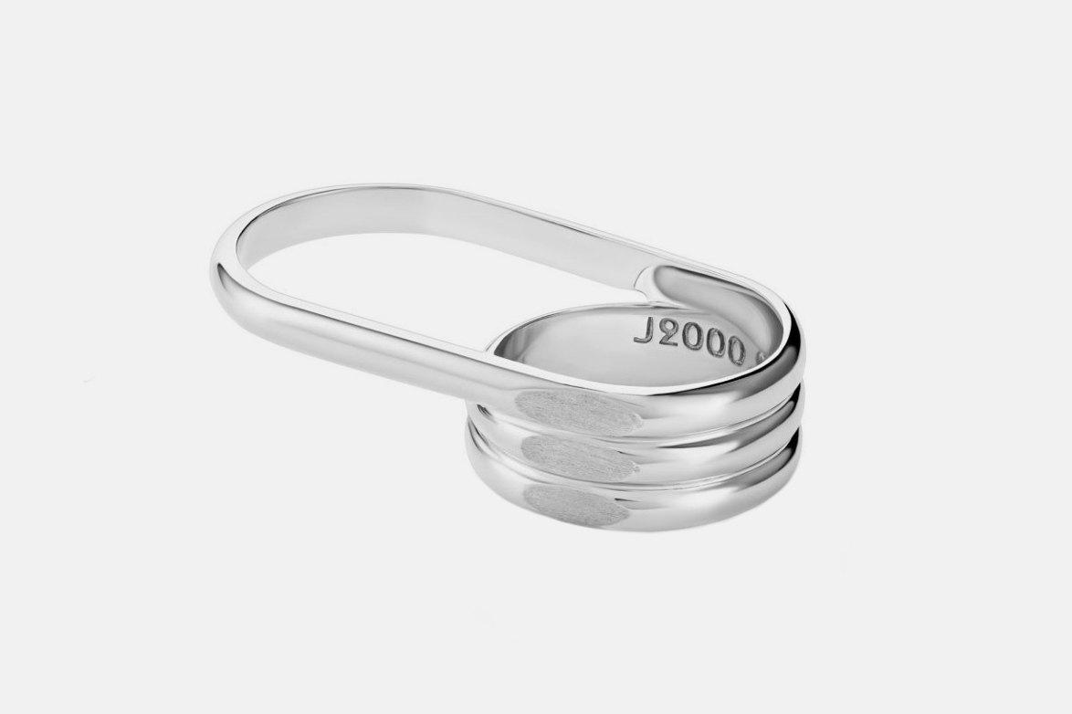 Кольцо Linea на два пальца