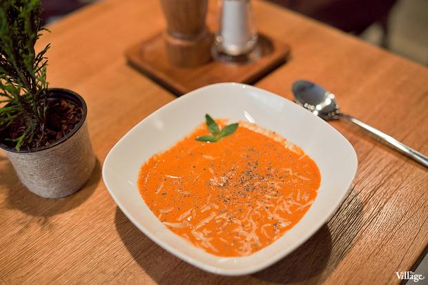 Томатный суп-пюре с пармезаном –140 рублей. Изображение № 31.