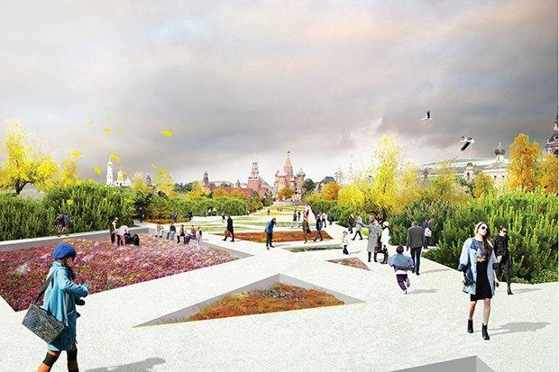 Парк в Зарядье: Проекты победителей и мнения экспертов. Изображение № 38.