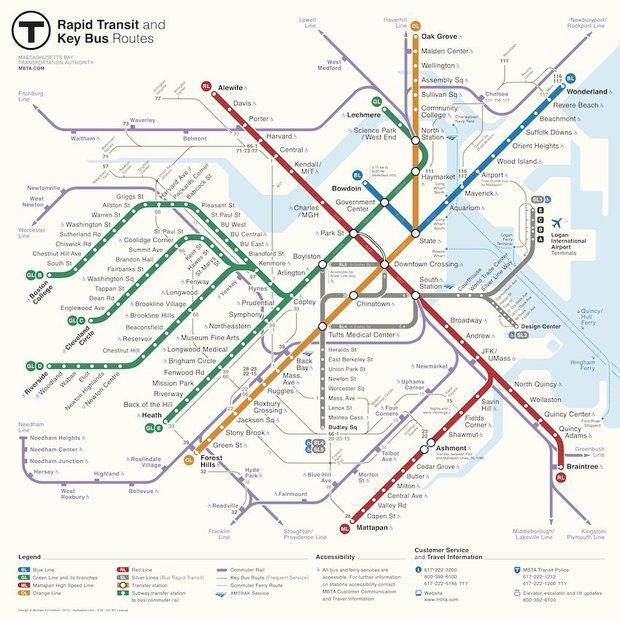 Дизайнер из Москвы победил в конкурсе на лучший дизайн метро Бостона. Изображение № 1.