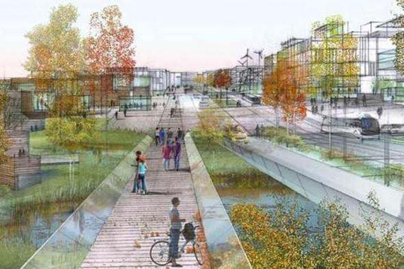 Проект «Сколково» станет энергоэффективным, экологическим комплексом с инфраструктурой для пешеходов. Изображение № 9.