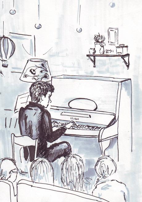 Клуб рисовальщиков: Музыканты. Изображение № 10.